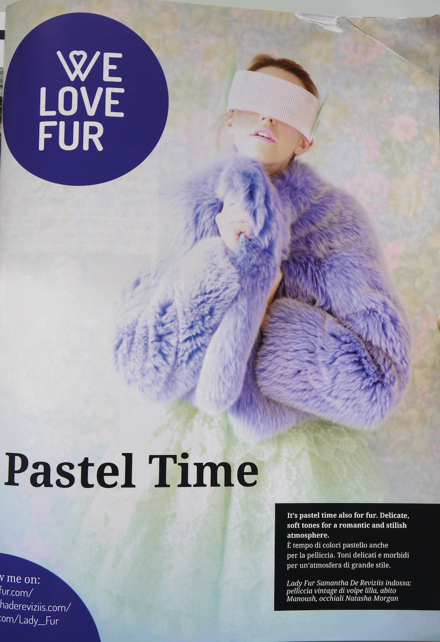 first page welovefur.com on aroel fur magazine