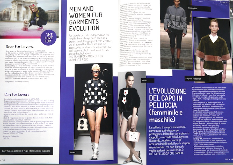 welovefur on arpel fur magazine