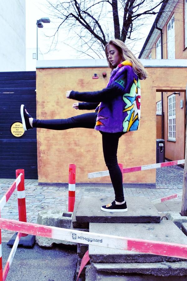 pelliccia colorata lady fur da kick per imagine talents