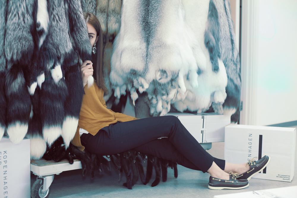 lady fur pelliccia di volpe
