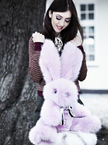 Coniglio in pelliccia di volpe