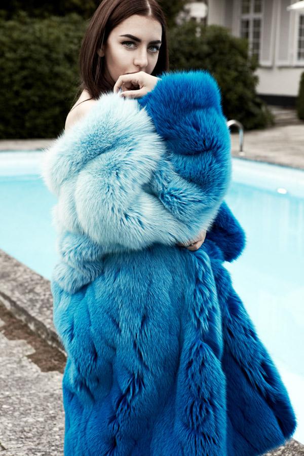 lady fur pelliccia volpe