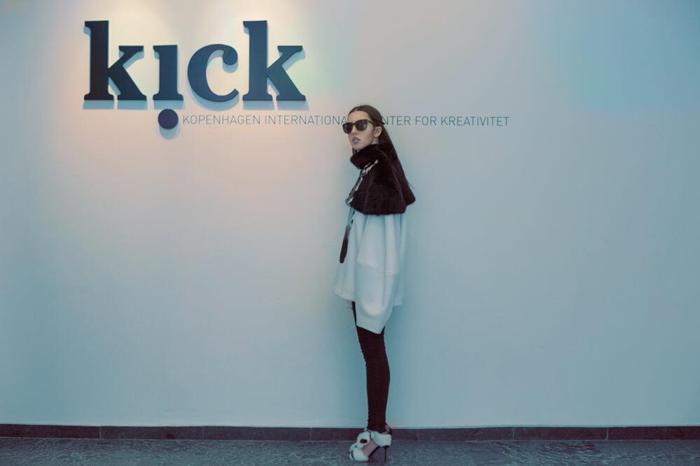 lady fur stampa su pelliccia da kick