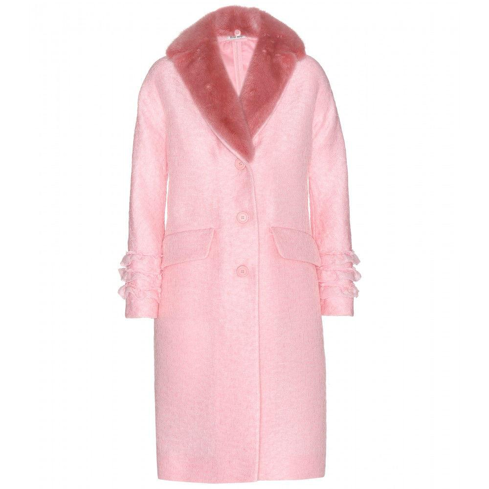 pelliccia rosa chiaro miumiu