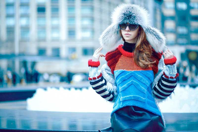 new york fashion week 2015 pelliccia volpe lady fur