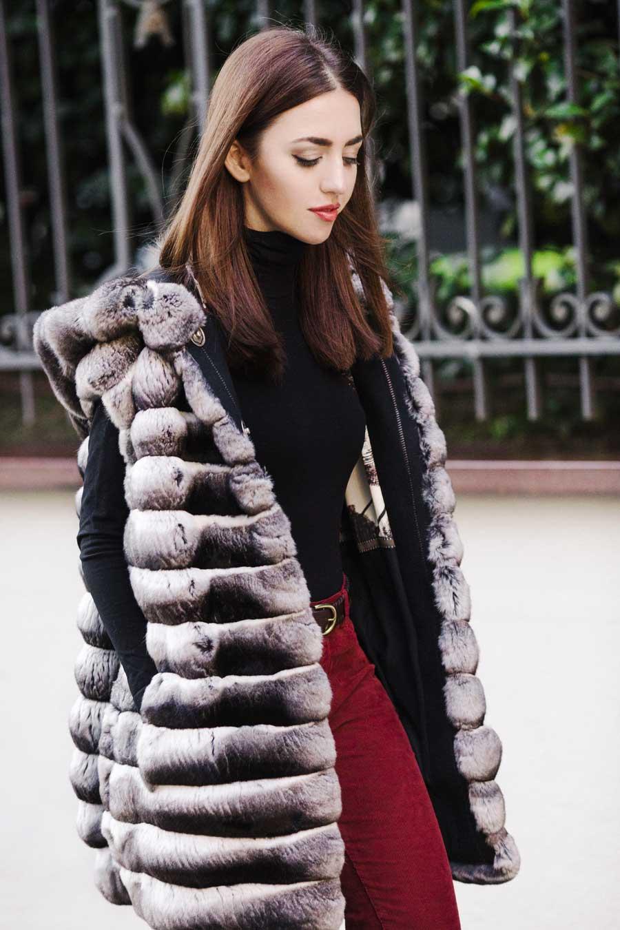 pelliccia chinchilla lady fur