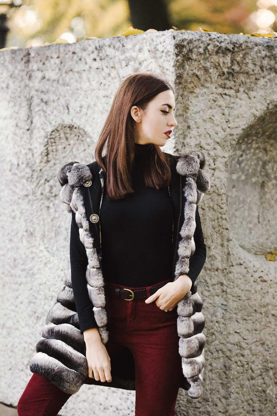 pelliccia cincillà indossata da lady fur
