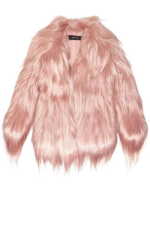 pelliccia rosa chiaro gucci