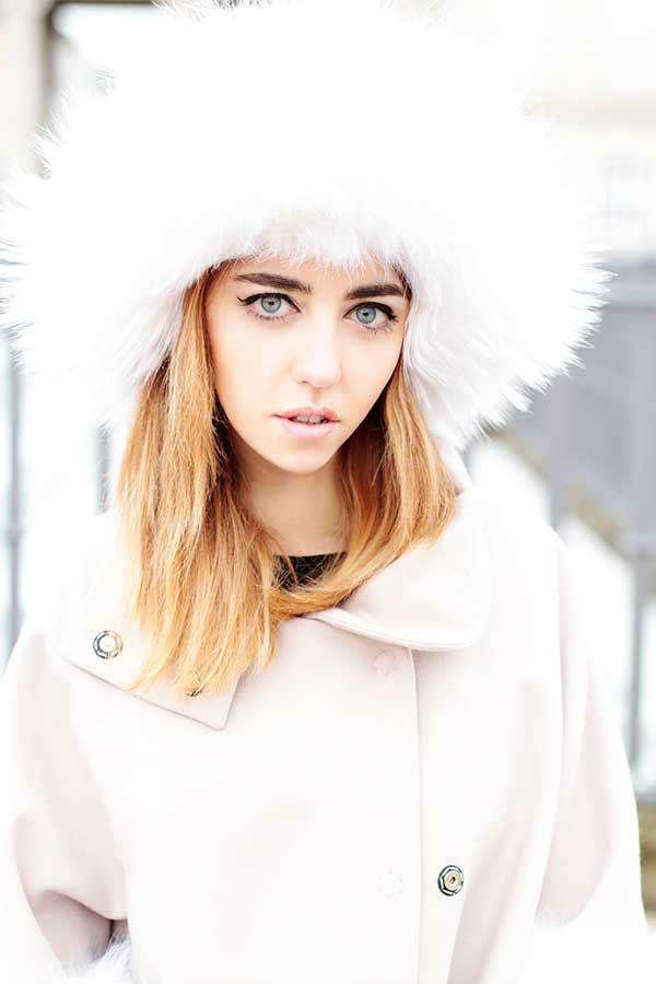 Cappello con pelliccia da cacciatore chanel lady fur