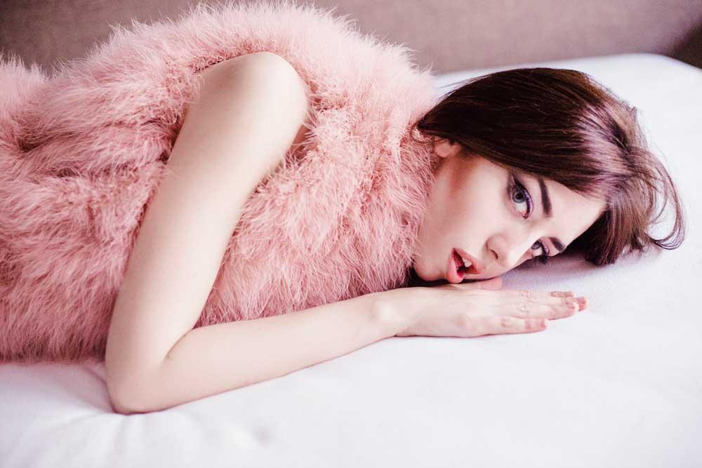 gilet pelliccia rosa