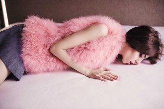 foto gilet pelliccia rosa