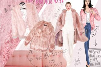 pelliccia rosa chiaro