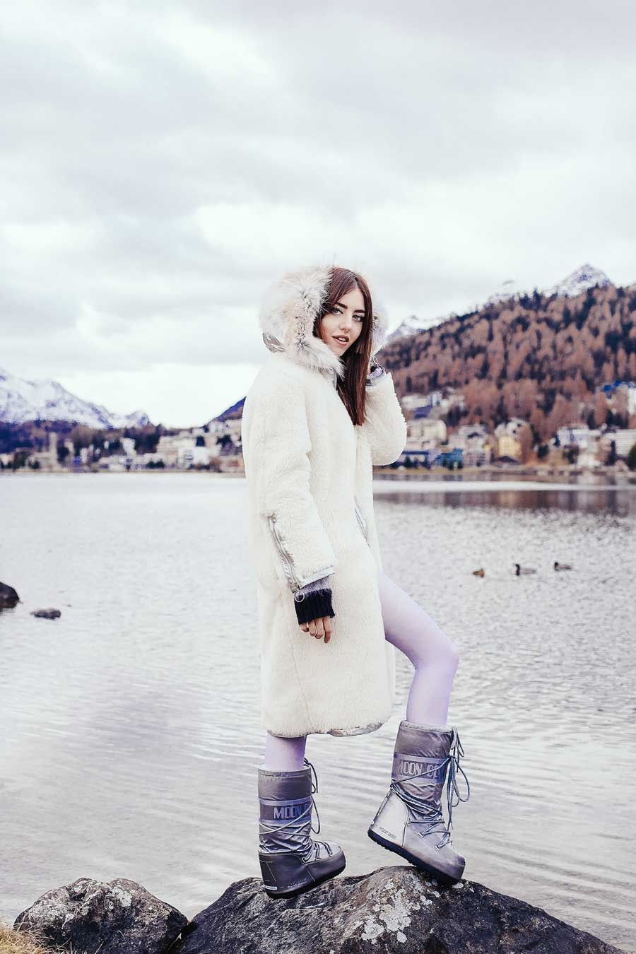 lady fur look da montagna