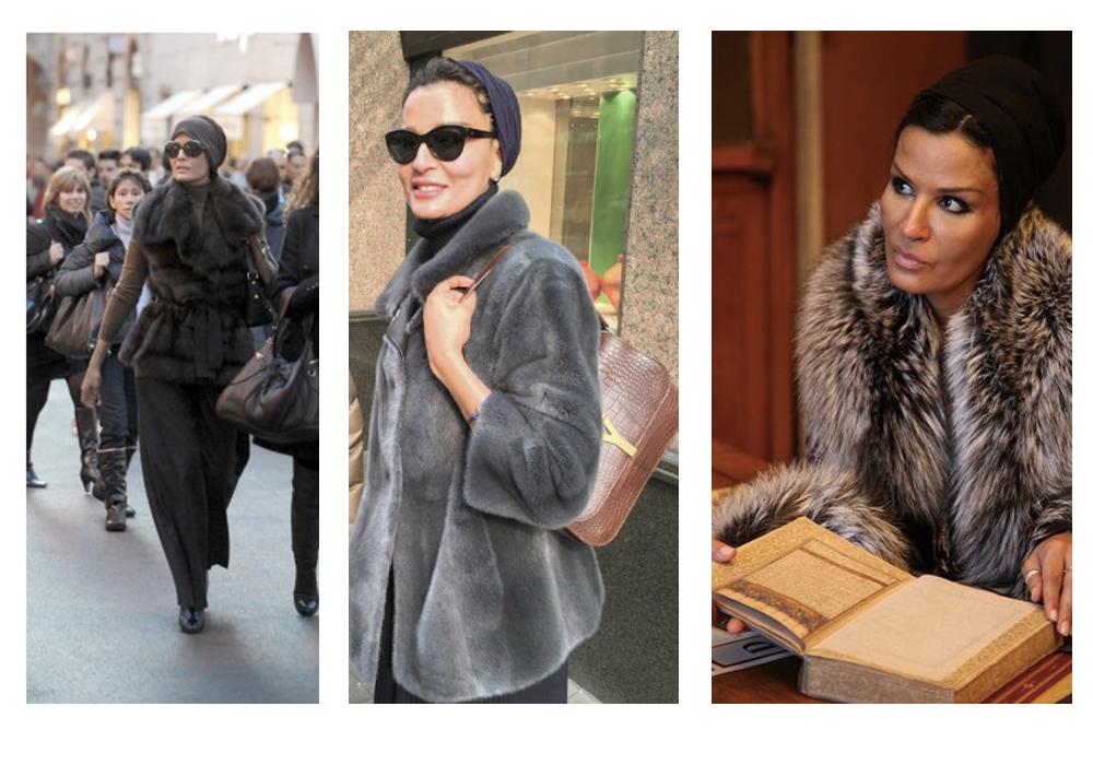 Sheikha-Mozah-look-moda-pelliccia