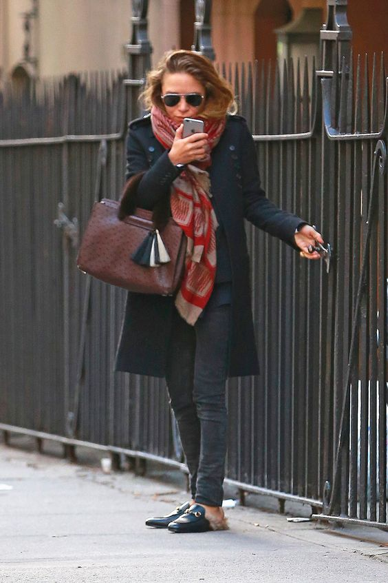 Mary Kate Olsen look slippers