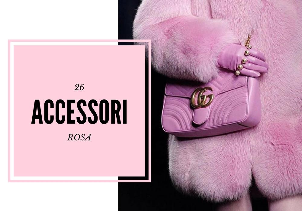 Accessori rosa in pelliccia
