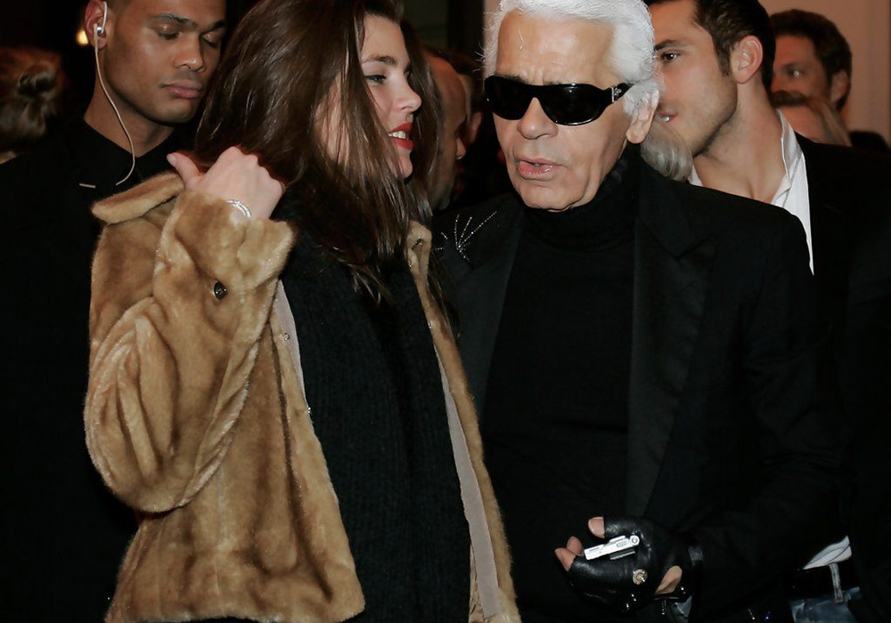 Charlotte Casieaghi a Karl Lagerfeld