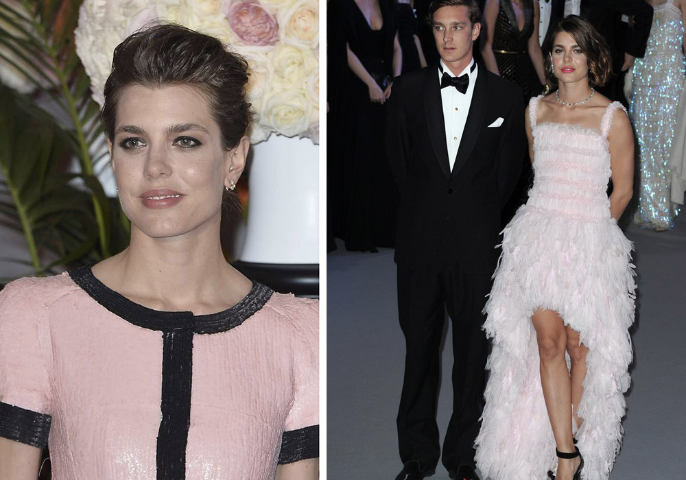 Charlotte Casiraghi vestiti ball rose