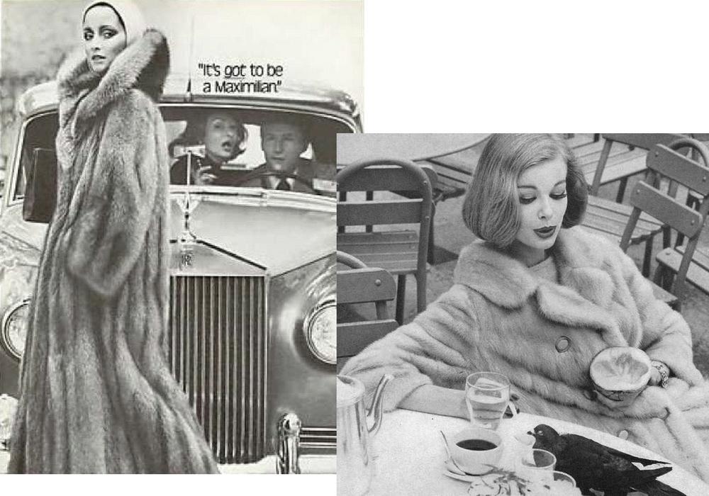 donne in pelliccia vintage