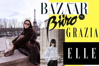 press lady fur settimane della moda di parigi