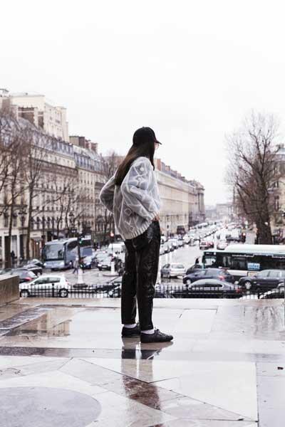 lady fur a parigi maglia pelliccia