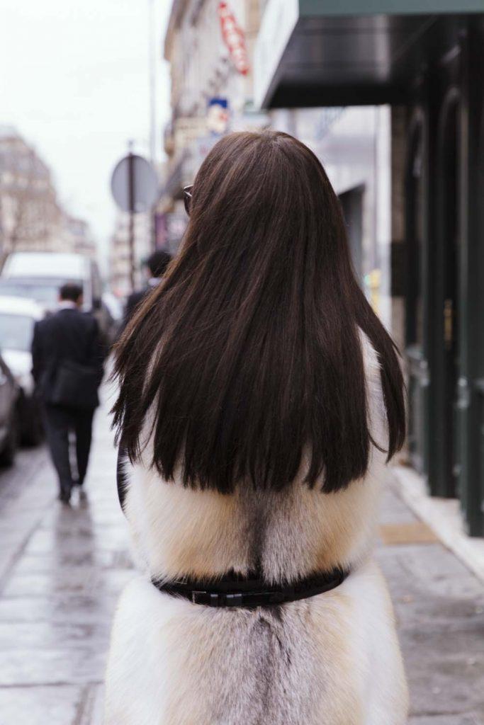 lady fur con pelliccia volpe bianca