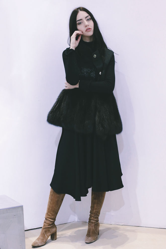 gilet di cachemire lady fur