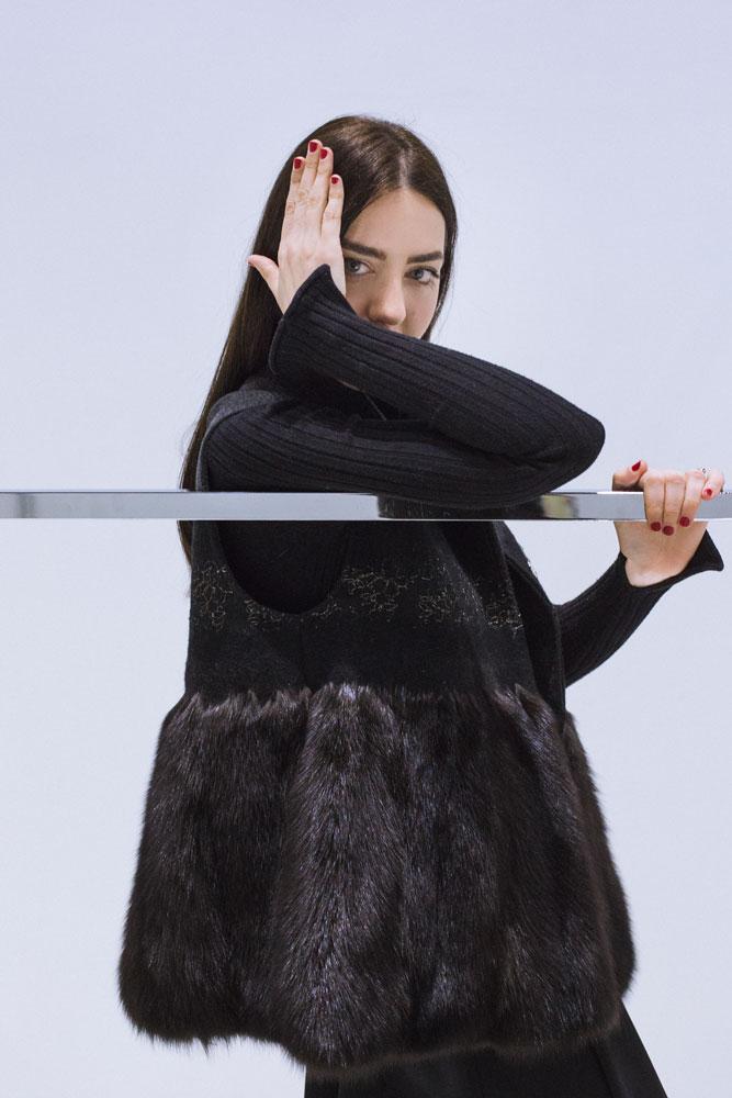 gilet di pelliccia visone lady fur