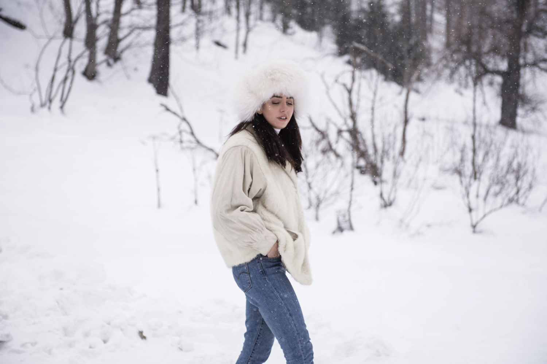 in montagna lady fur pelliccia di visone
