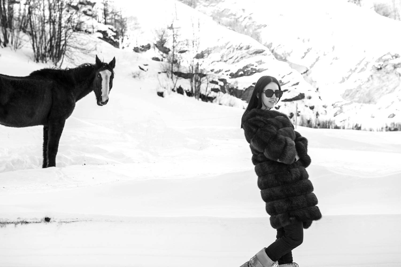 Lady Fur indossa una pelliccia di Christian Ghielmetti