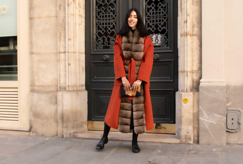 cappotto bordato zibellino