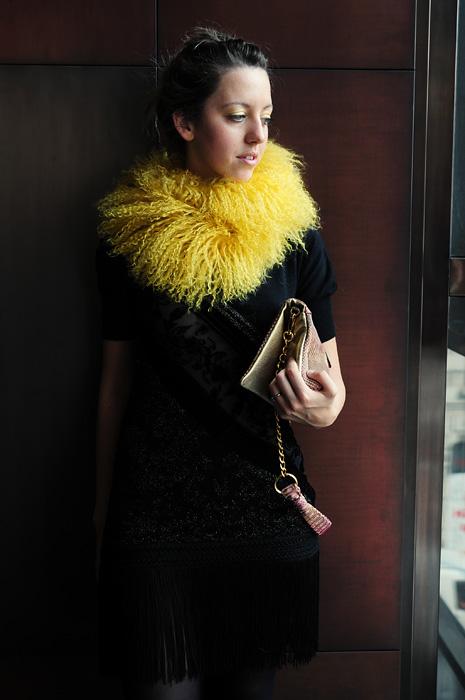 Lady Fur outfit per la sfilata di Roberto Cavalli