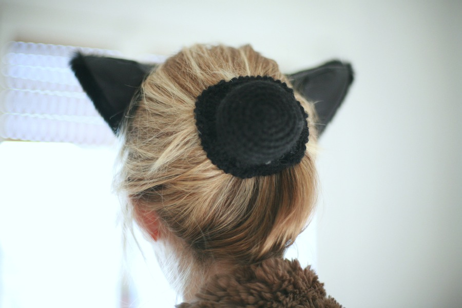 orecchie da gatta in pelliccia