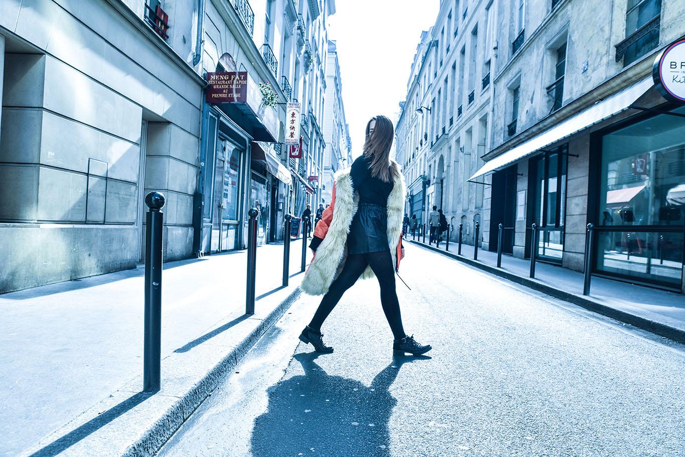 parigi giacca k way lady fur foto 8