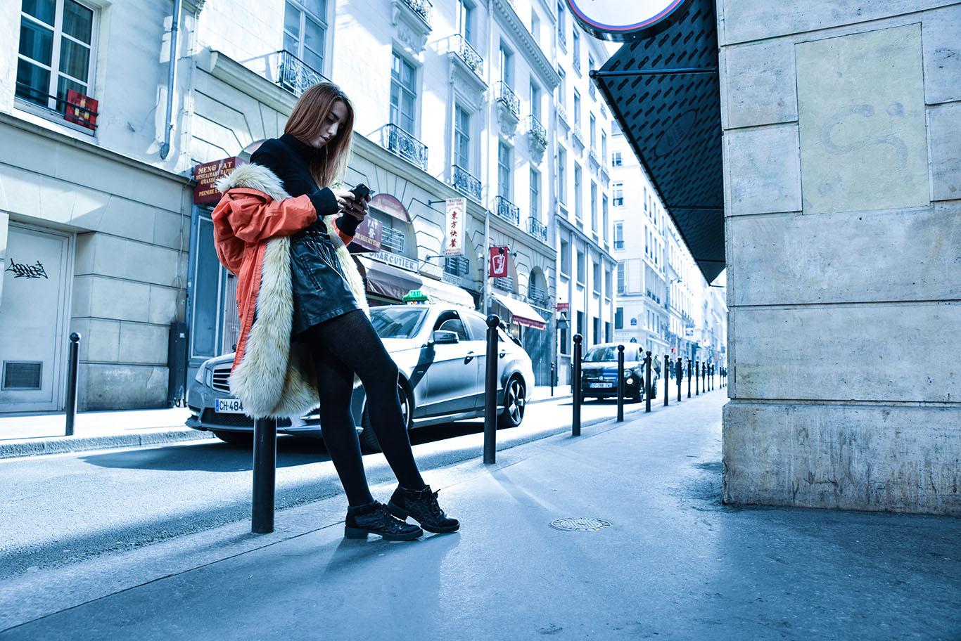 parigi giacca k way lady fur foto 10
