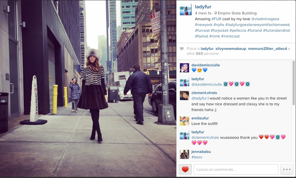lady fur instagram