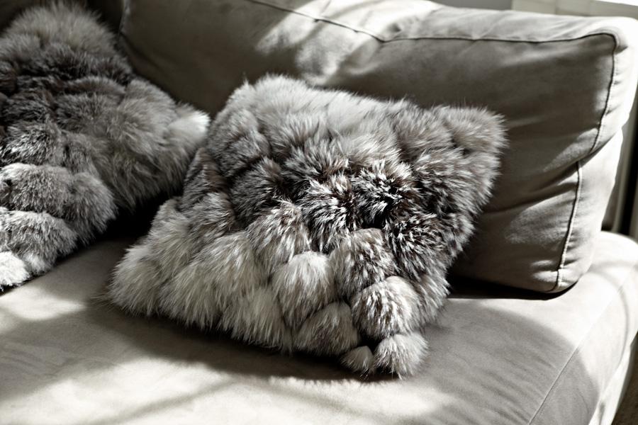 cuscino pelliccia