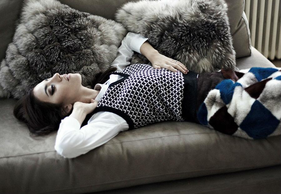 lady fur diano cuscini pelliccia