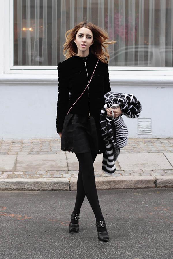 lady fur con pelliccia intarsio visone