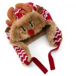 Christmas Faux-Fur Reindeer Trapper Hat, Size: One Size (Red)