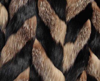lavorazione chevron in pelliccia di volpe dior 1980