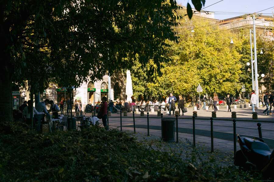 pelliccia cincillà autunno parco semipieno milano
