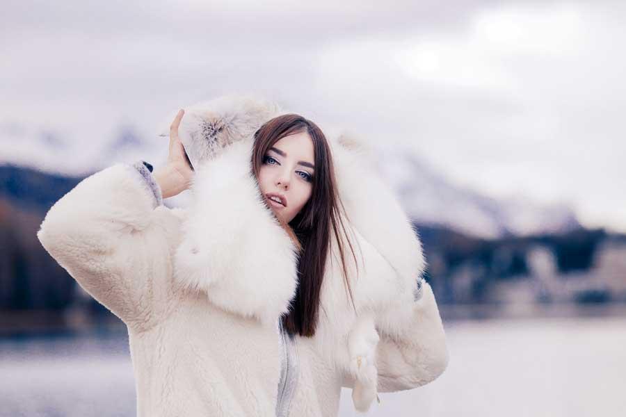 lady fur pelliccia bionic con cappuccio