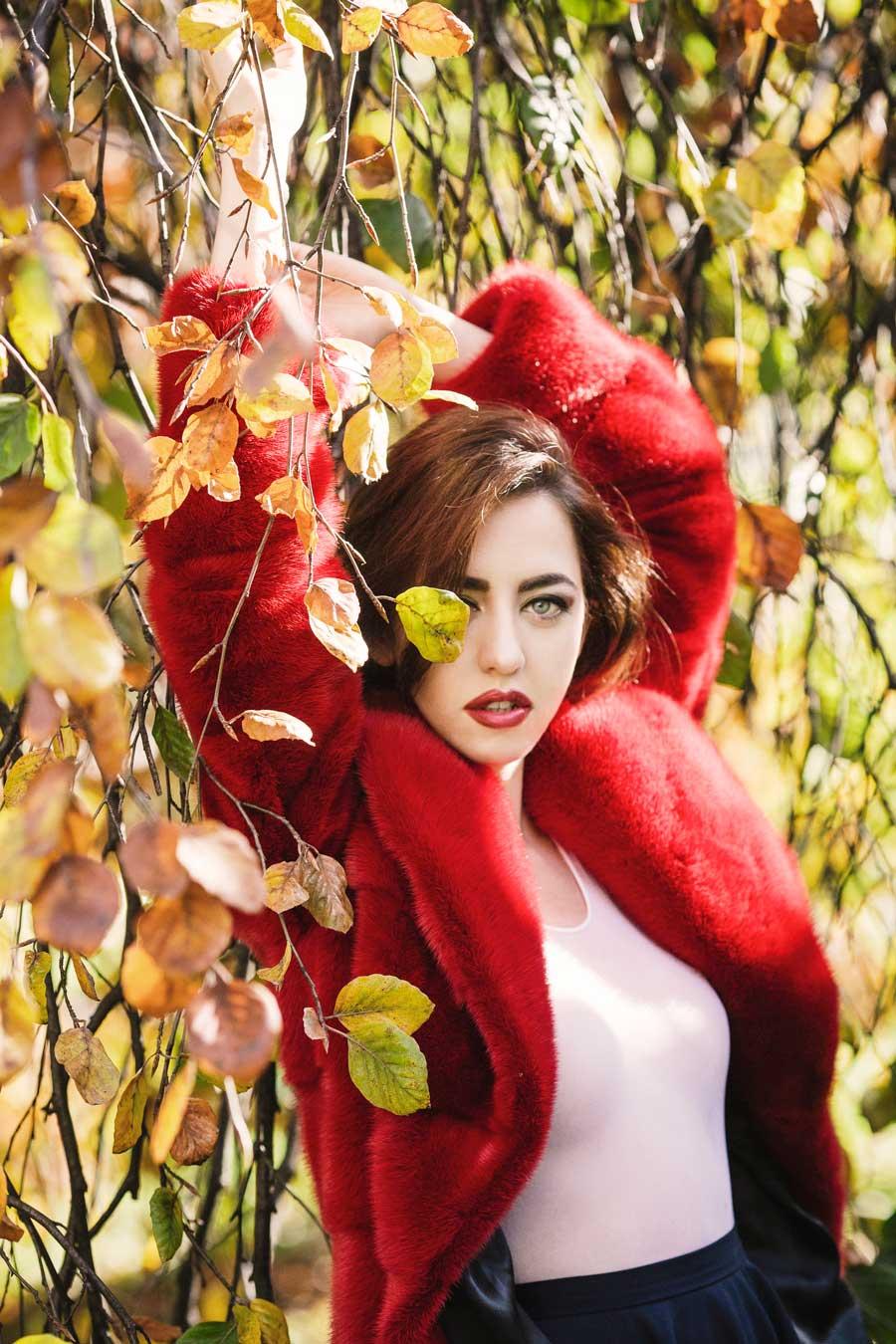 pelliccia di visone lady fur