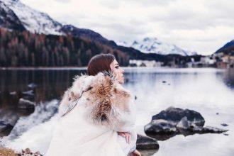 cappuccio con pelliccia lady fur