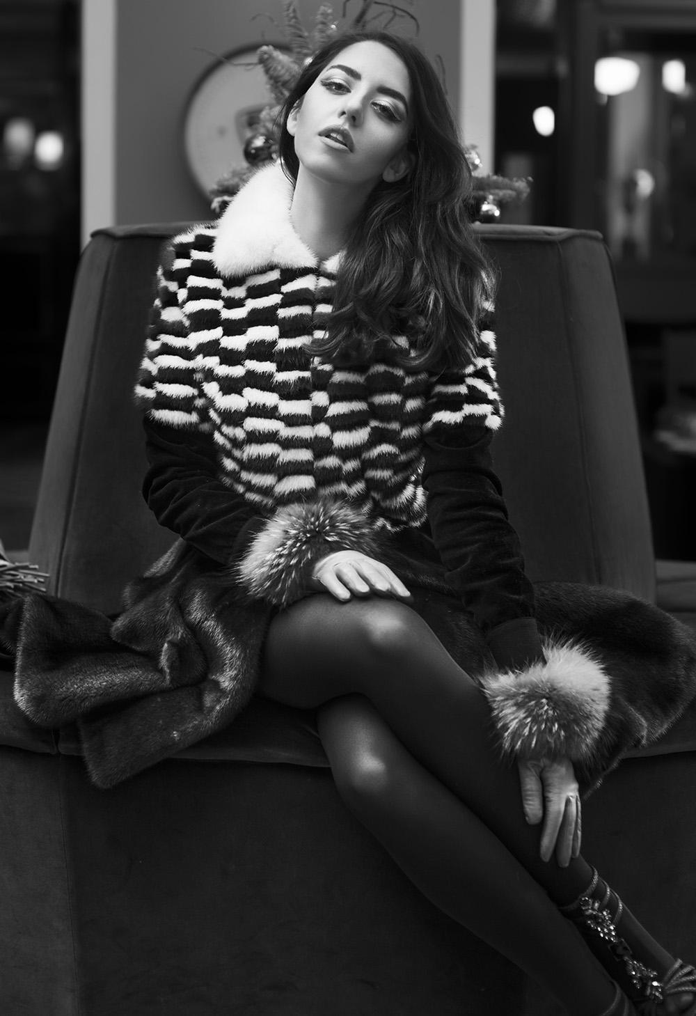lady fur pelliccia vladimiro gioia pelliccia visone foto