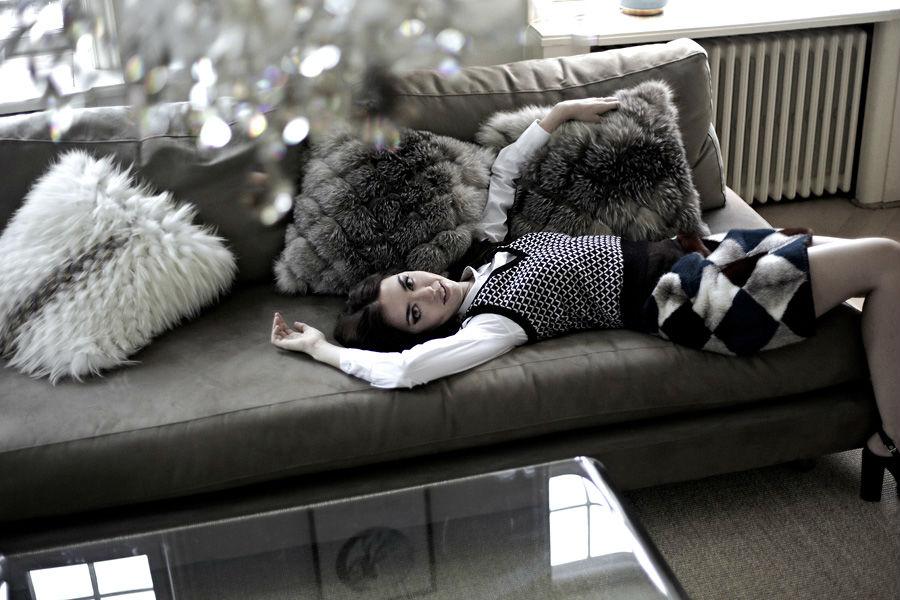 cuscini di pelliccia saga furs