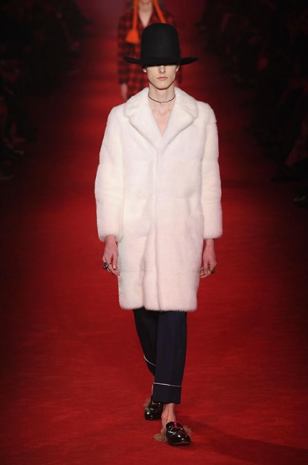 Gucci pelliccia di visone pelo lungo