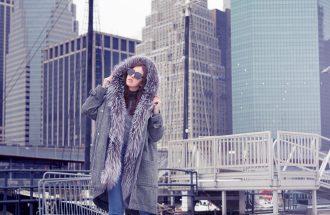 new york parka con pelliccia via cappella