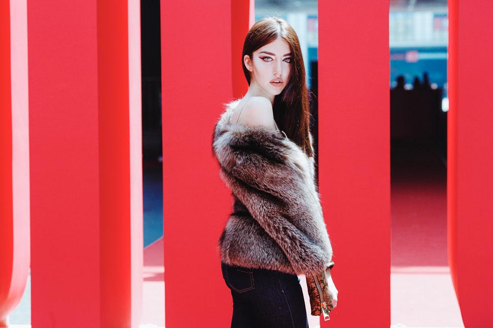 chic fiera cinese 2016 lady fur